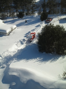 Too much snow to plough